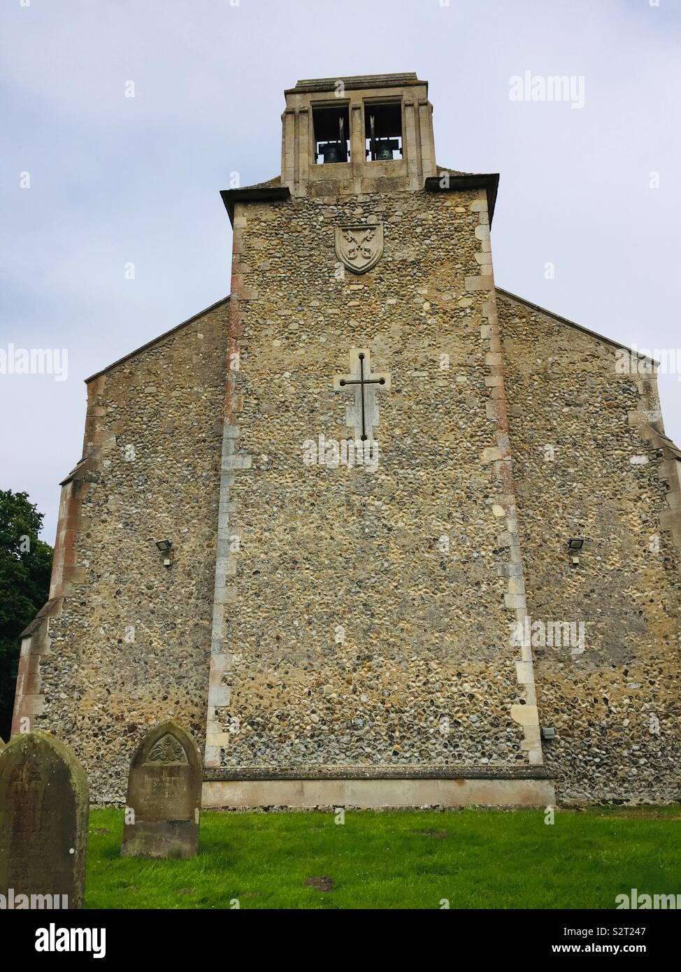 St Peters Church smallburgh Norfolk mur ouest Photo Stock