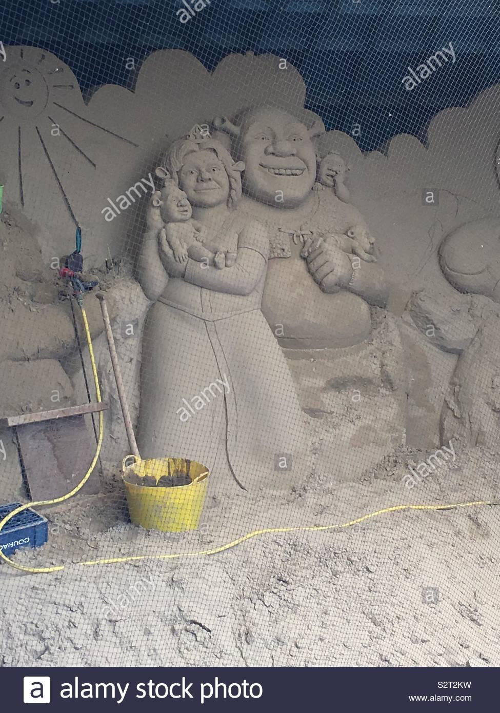Construire des châteaux de sable Photo Stock