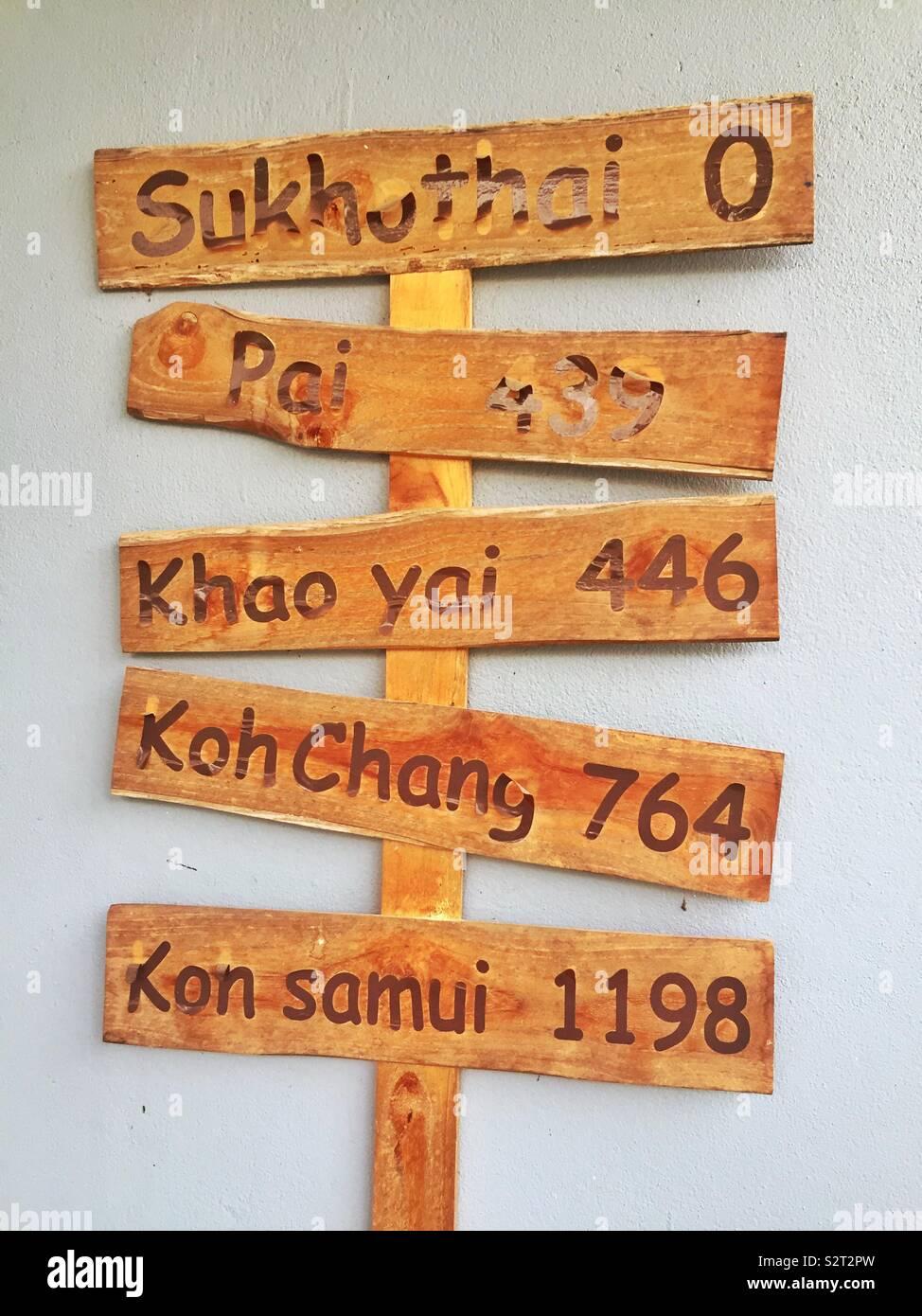 En Bois à Sukhothai Photo Stock
