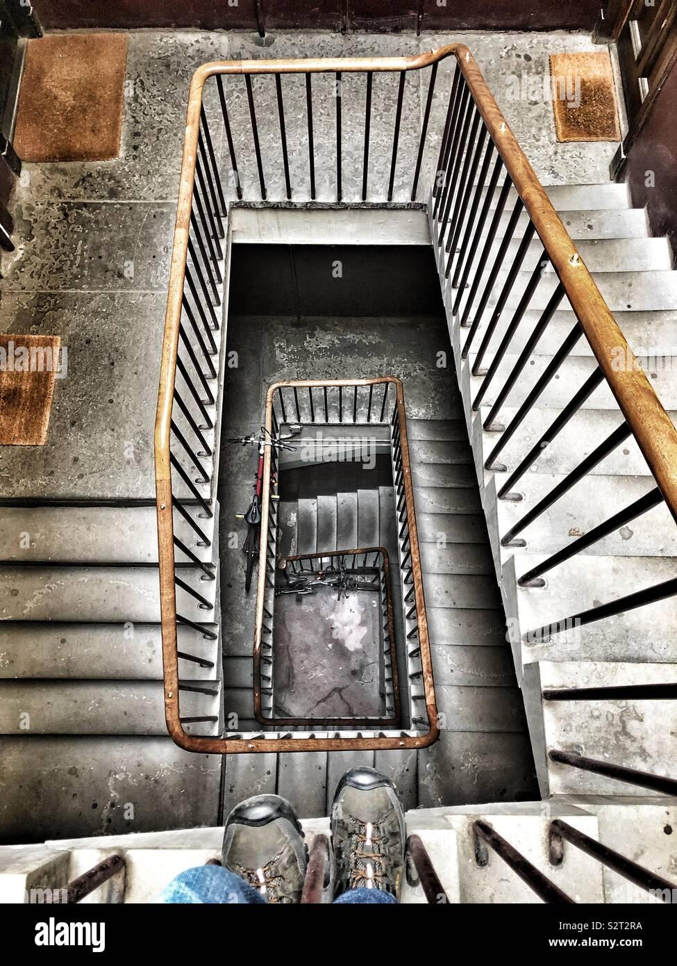 Escalier intérieur Photo Stock