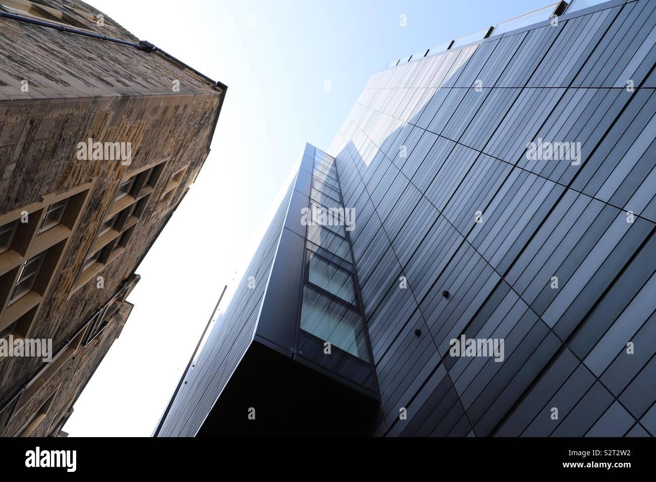 Abstraite de bâtiments modernes et traditionnelles Photo Stock