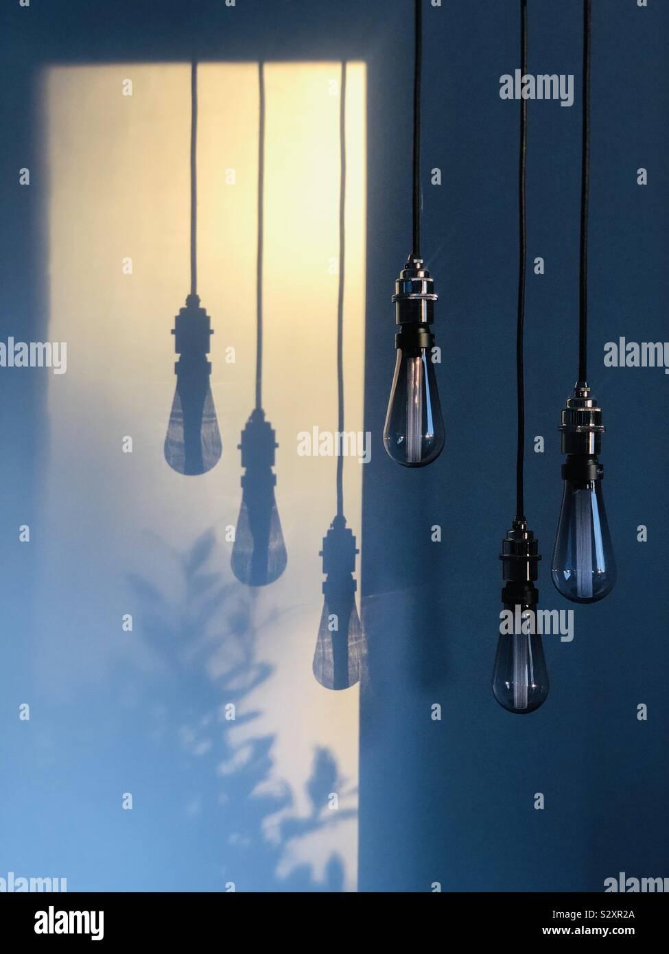 Reflets de lumière tôt le matin Banque D'Images