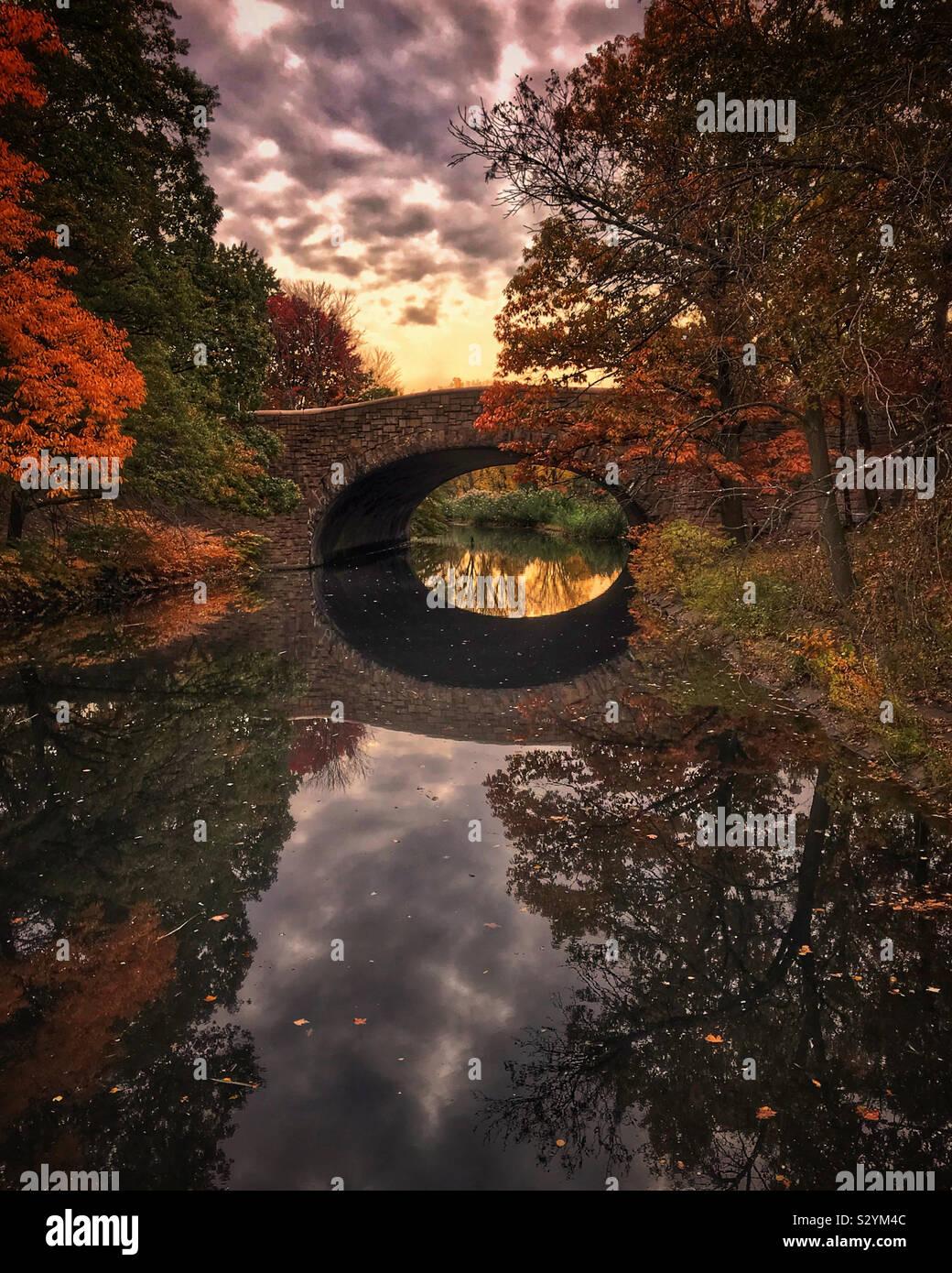 L'automne en Nouvelle Angleterre. Banque D'Images