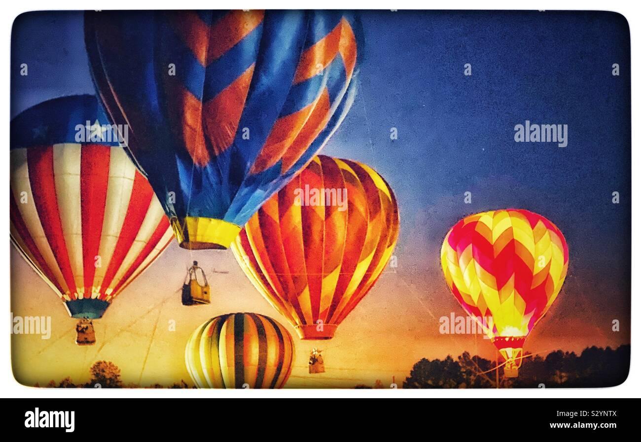 Ballons à air chaud Banque D'Images