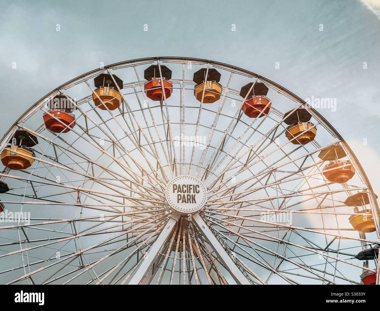 Grande roue du Pacific Park Banque D'Images