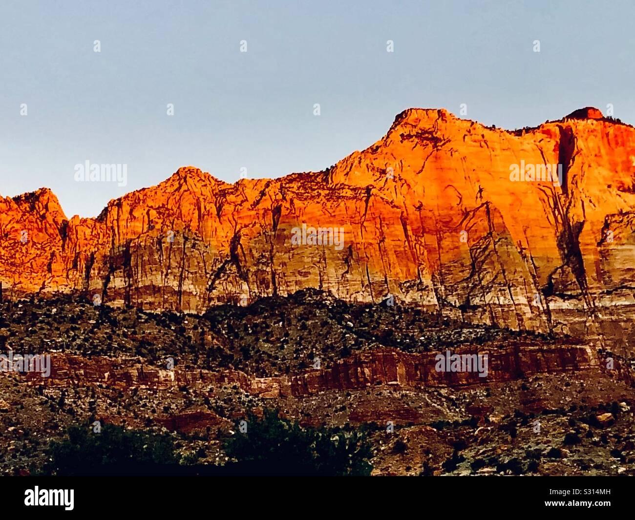 Paysages de Springdale, en Utah, au sud de Zion National Park Banque D'Images