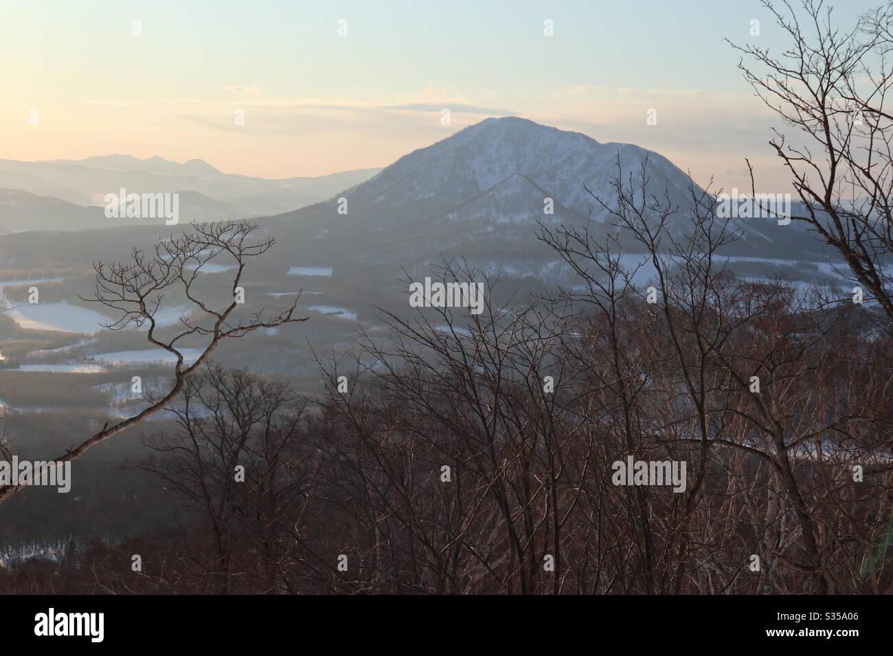 Mt Shiribetsu, Japon Banque D'Images