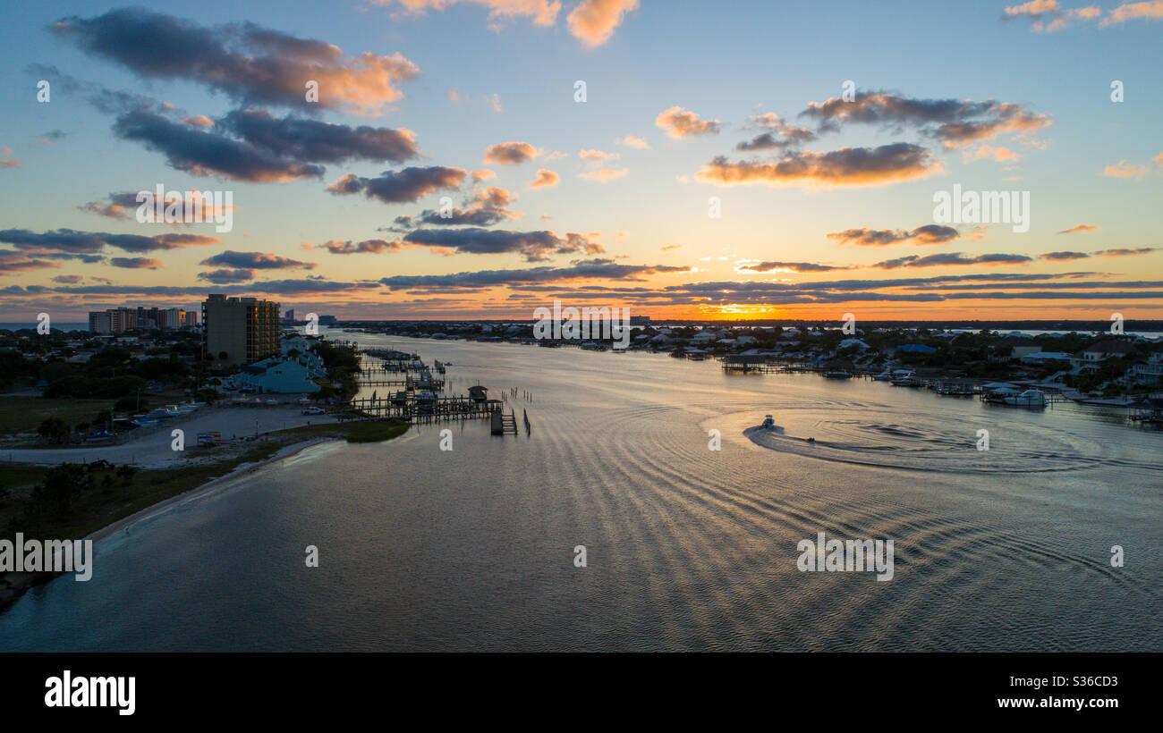 Perdido Key Beach au coucher du soleil Banque D'Images