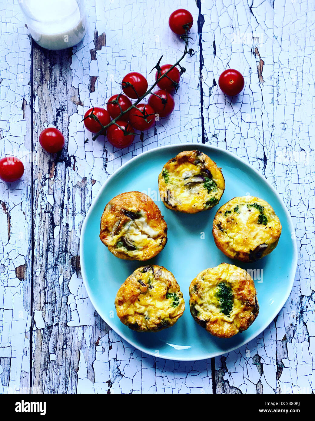 Muffins oeuf Banque D'Images