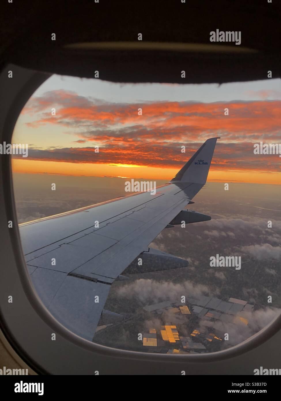 Lever du soleil sur Amsterdam Banque D'Images