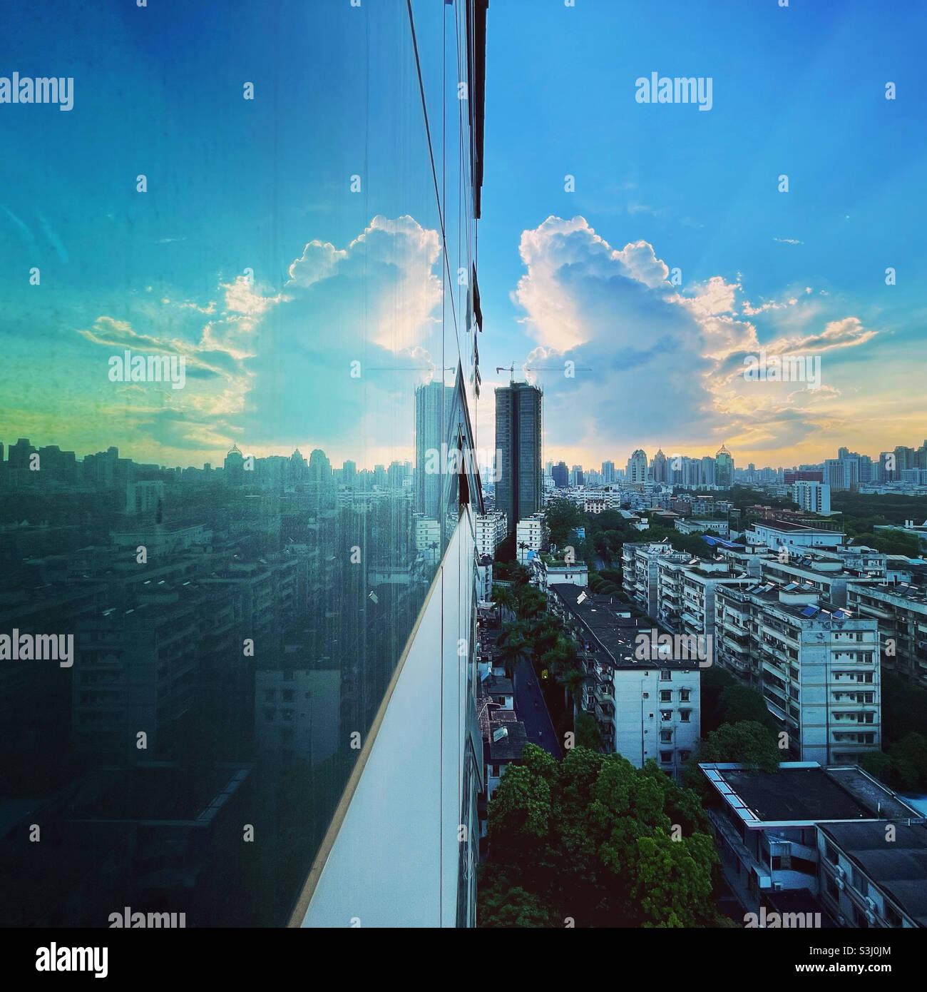 Magnifique coucher de soleil Banque D'Images