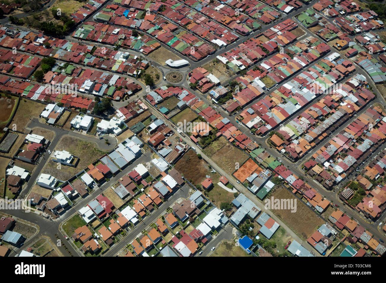 San Jose Costa Rica vue aérienne. Photo Stock