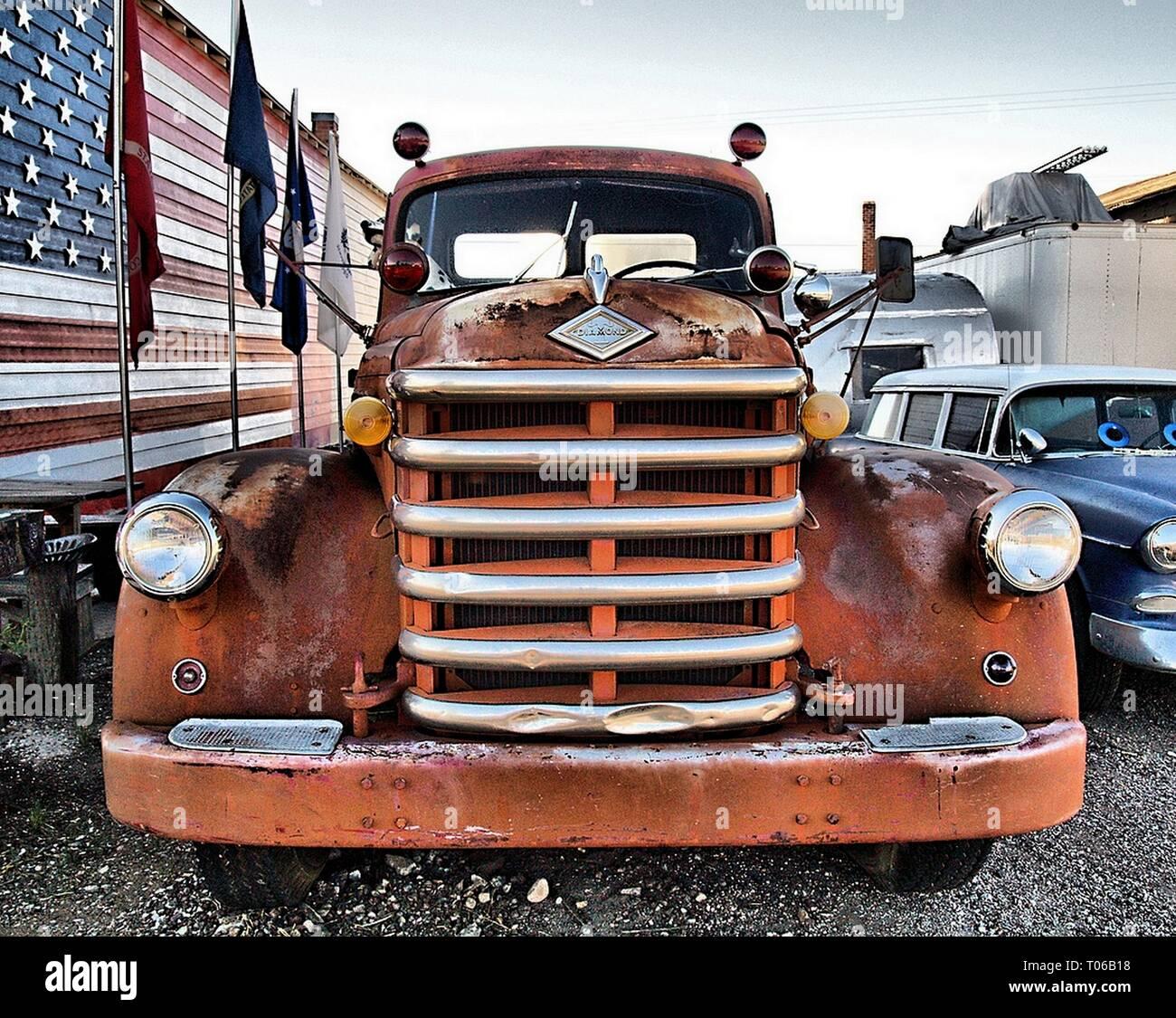 Route 66 automobiles Photo Stock