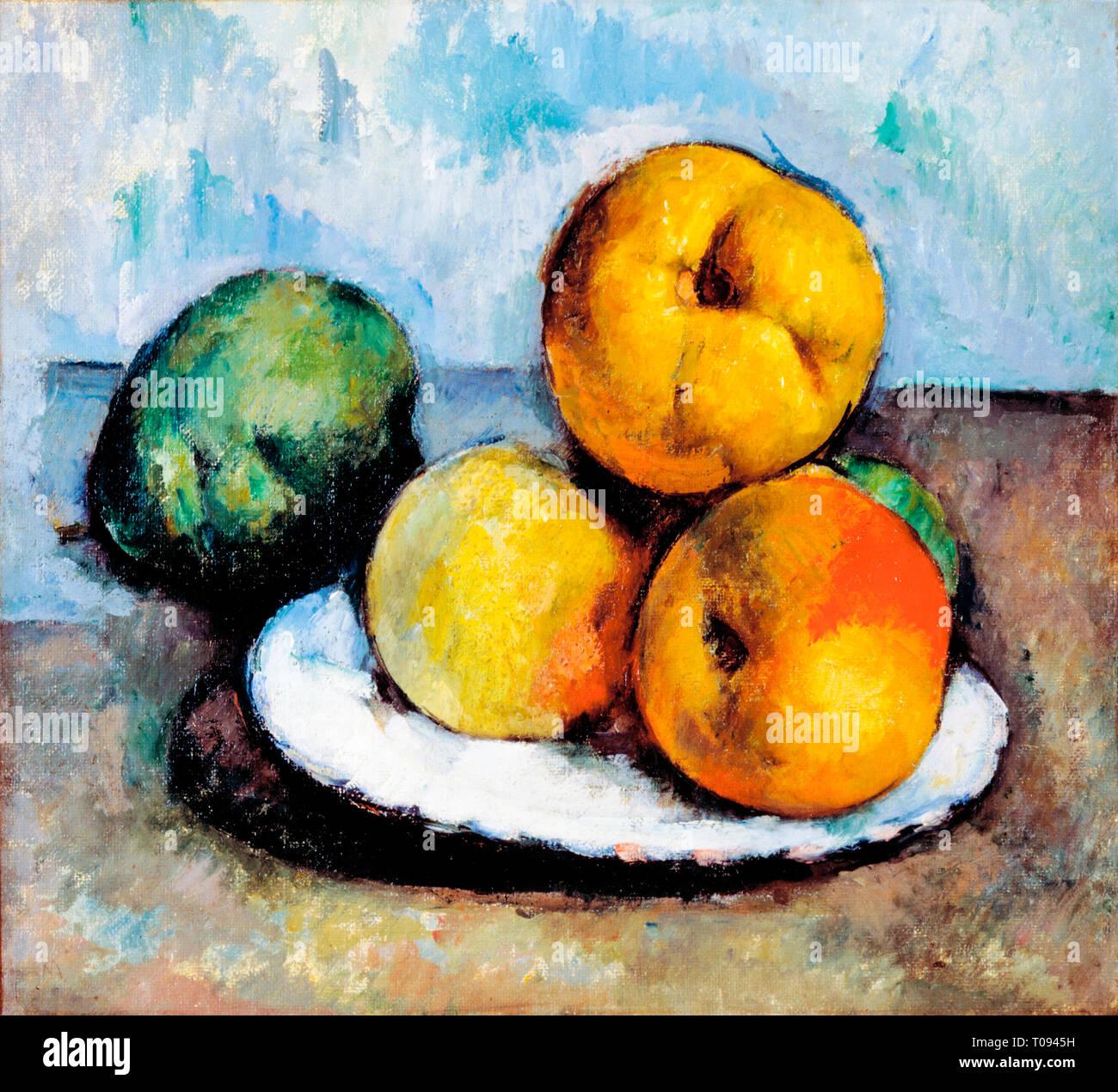 Paul Cézanne, Nature morte au Coing, pommes, poires, et c. 1885 Photo Stock