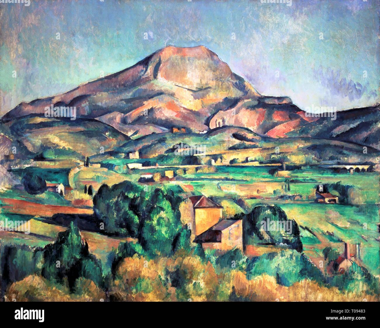 Paul Cezanne La Montagne Sainte Victoire Vue De Bellevue Peinture 1885 Photo Stock Alamy