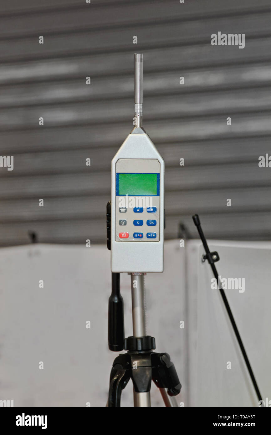 Appareil de mesure de niveau sonore et de la pollution sonore Analyzer Photo Stock