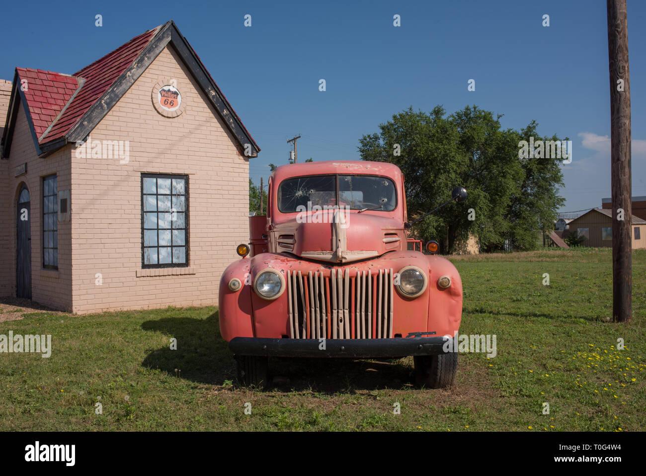 McLean, Virginia est le foyer de la première station Phillips 66 (pétrole), situé sur la célèbre Route 66 road. Le site restauré est un favori. Photo Stock