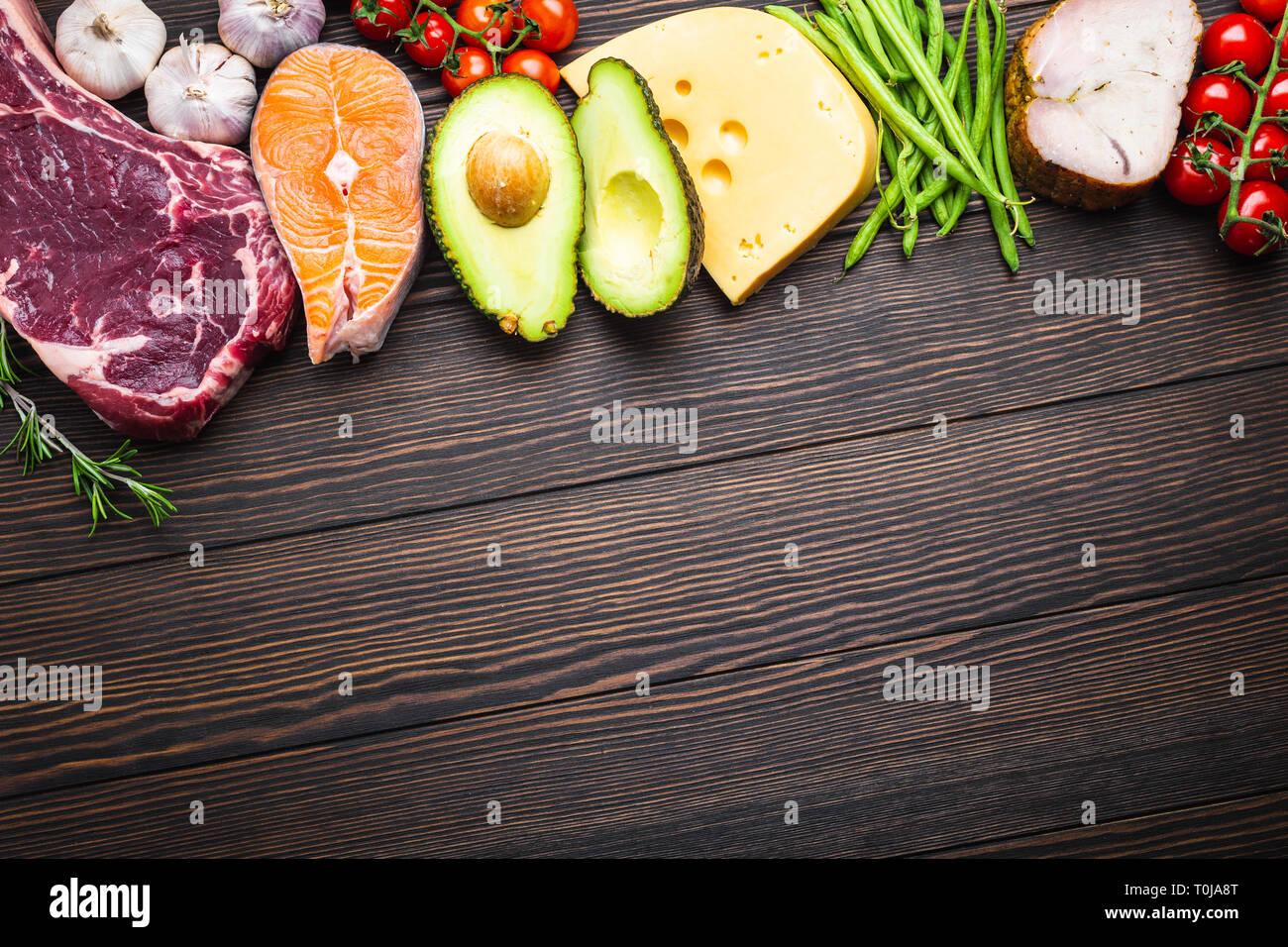 Les aliments de régime céto Photo Stock
