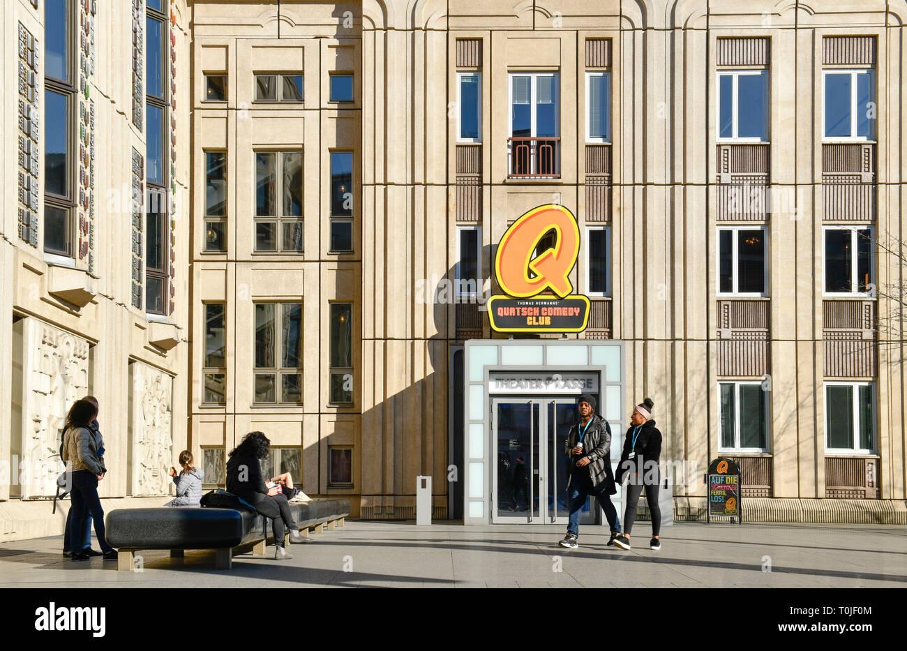 Le club de comédie absurde, Friedrichstrasse, milieu, Berlin, Allemagne, Quatsch Comedy Club, Mitte, Deutschland Photo Stock