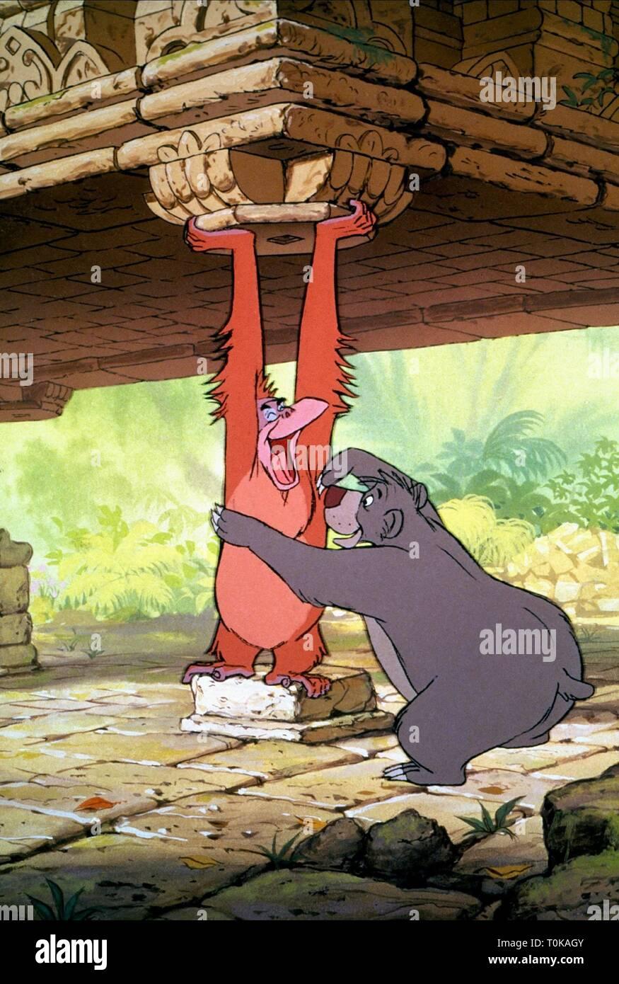 Le Roi Singe Loui Baloo L Ours Le Livre De La Jungle 1967