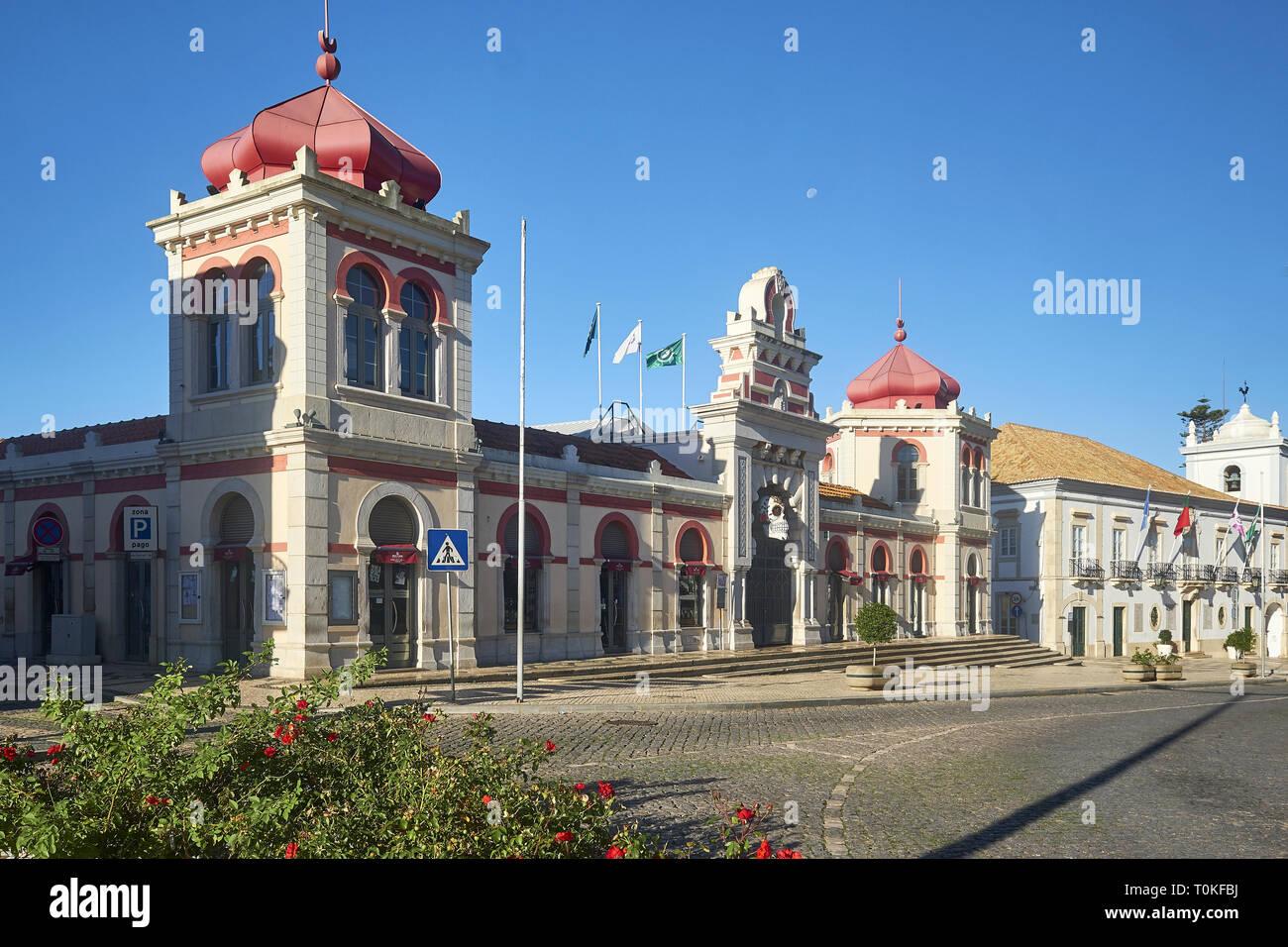 Halle de Albufeira, Faro, Algarve, Portugal Banque D'Images