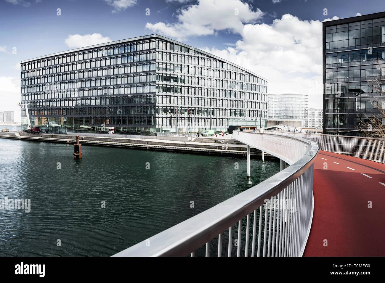 Cykelslangen location pont, Havneholmen, Copenhague, Danemark Banque D'Images