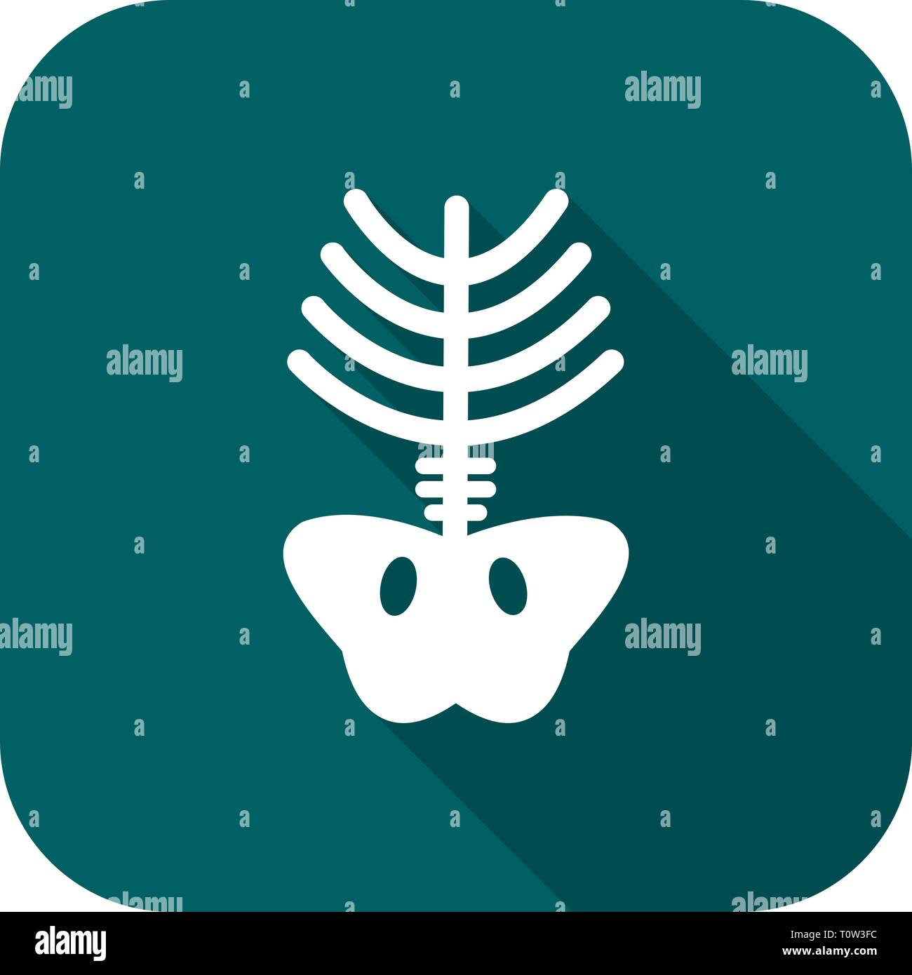 L'icône Illustration Xray Banque D'Images