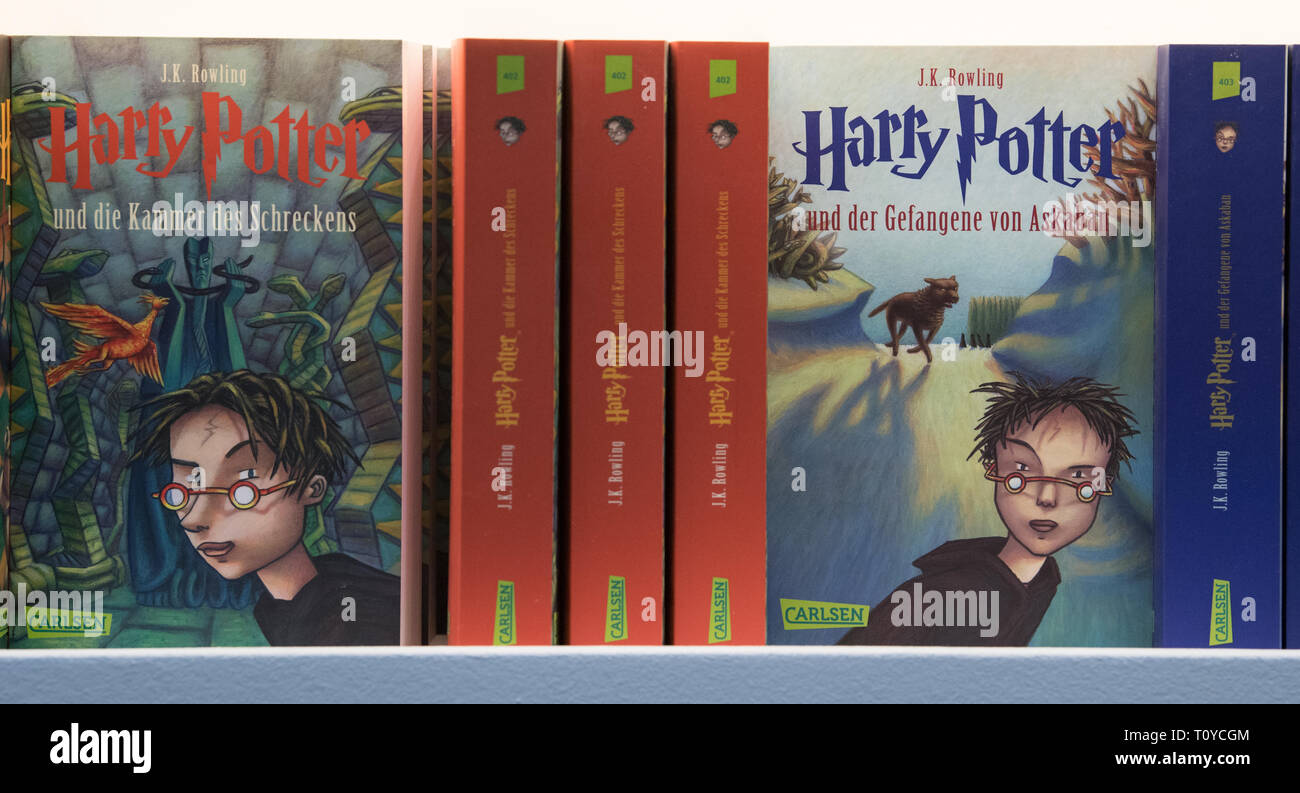 22 Mars 2019 Saxe Leipzig Livres De La Serie Harry