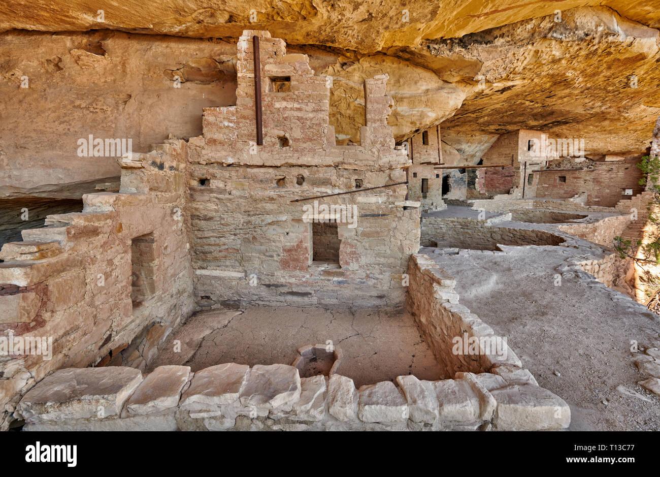 Balcony House, Cliff dwellings in Mesa-Verde-National Park, UNESCO World Heritage site, Colorado, USA, Amérique du Nord Banque D'Images