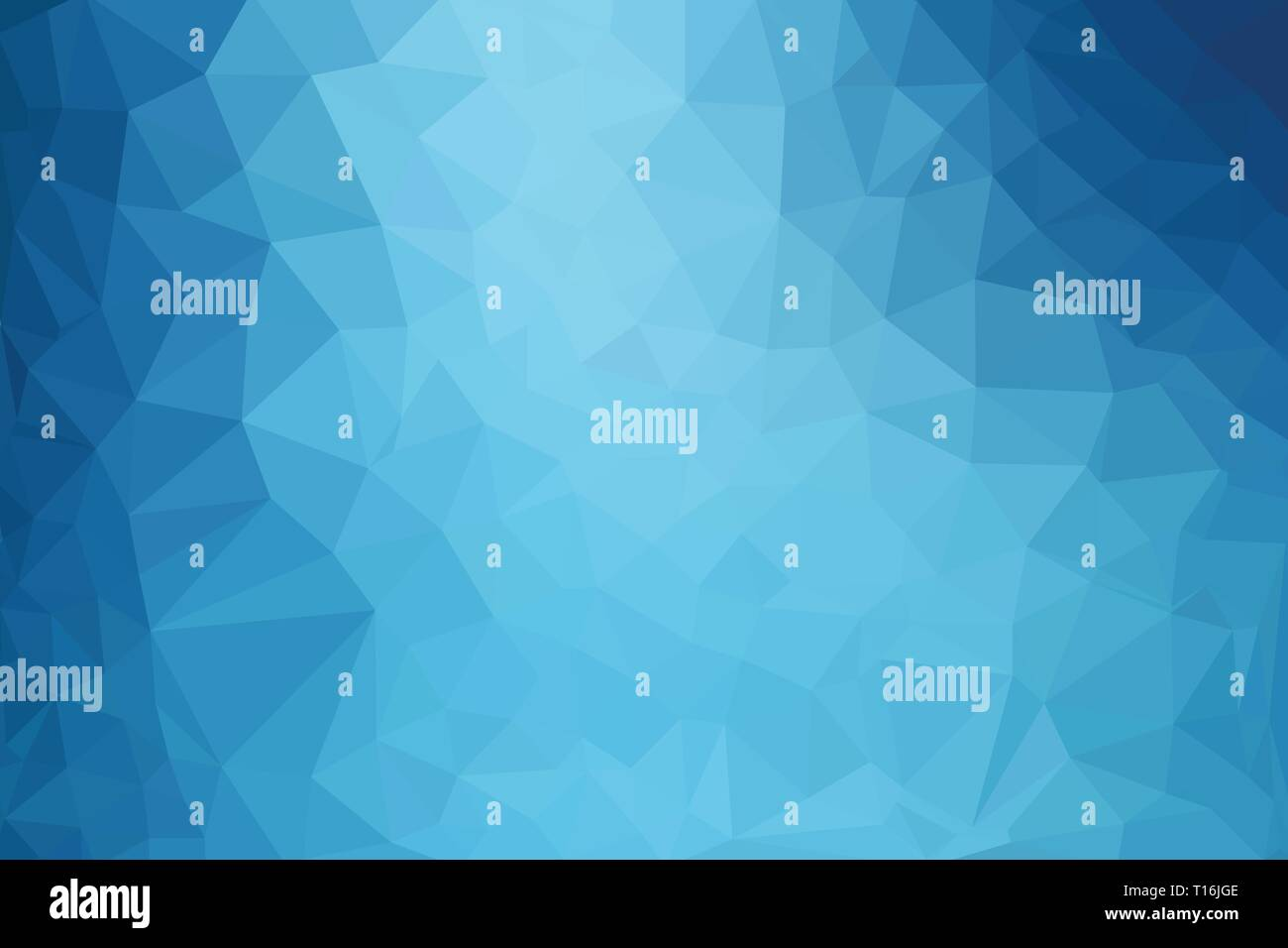Élégant blue abstract background vector polygone faible Photo Stock