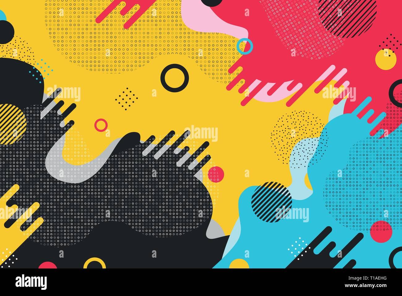 Résumé motif coloré design forme l'arrière-plan. Vous pouvez utiliser pour votre annonce, affiche, art, design moderne. illustration vector eps10 Photo Stock