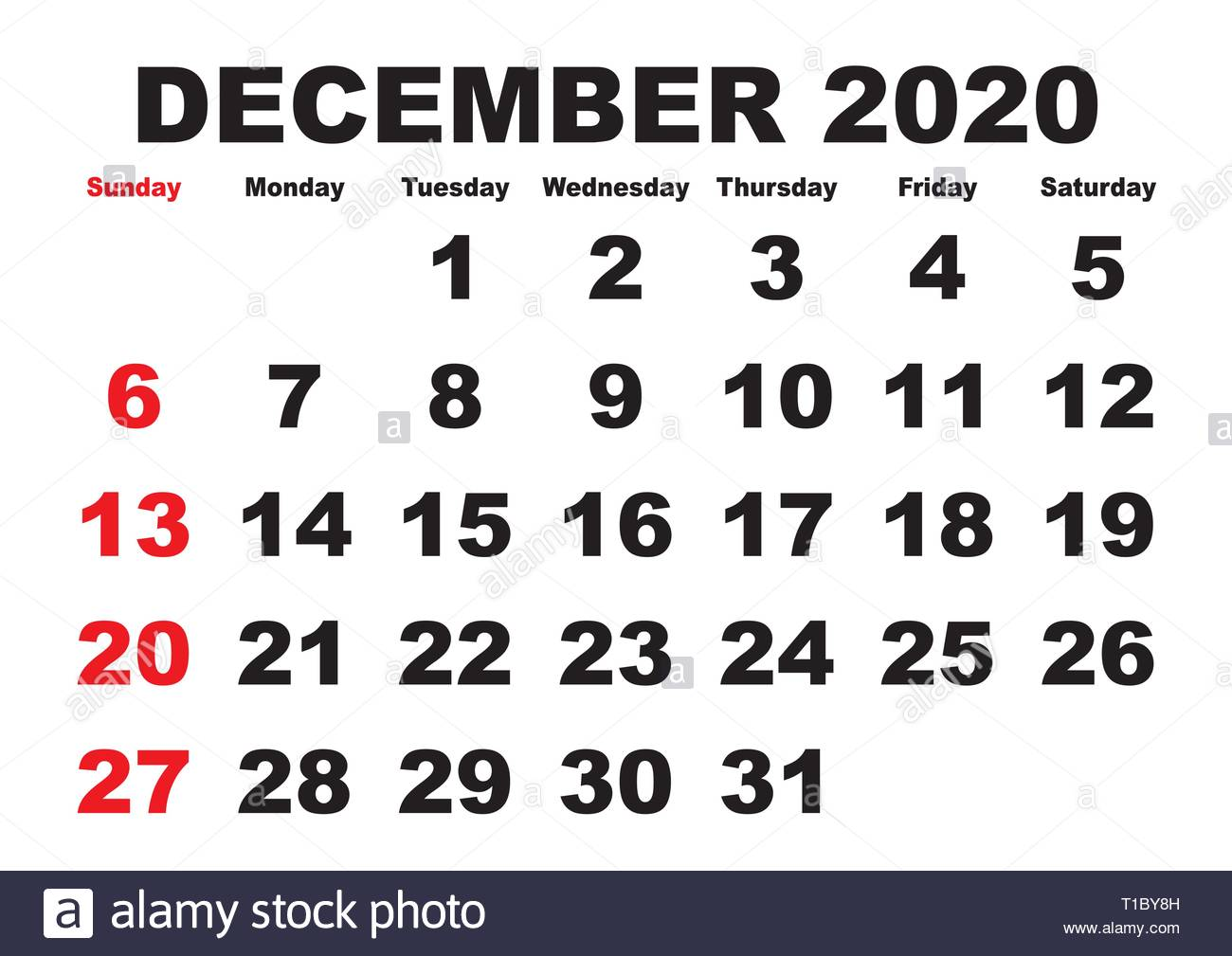 Calendrier De Decembre 2020.Calendrier 2020 Mois Decembre Vector Version Calendrier