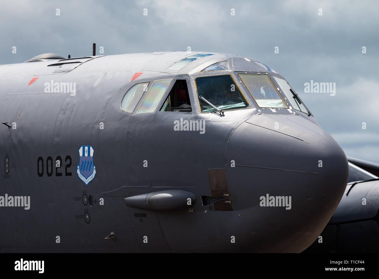 Un Boeing B-52 Stratofortress bombardier stratégique de l'United States Air Force au Royal International Air Tattoo 2017. Banque D'Images