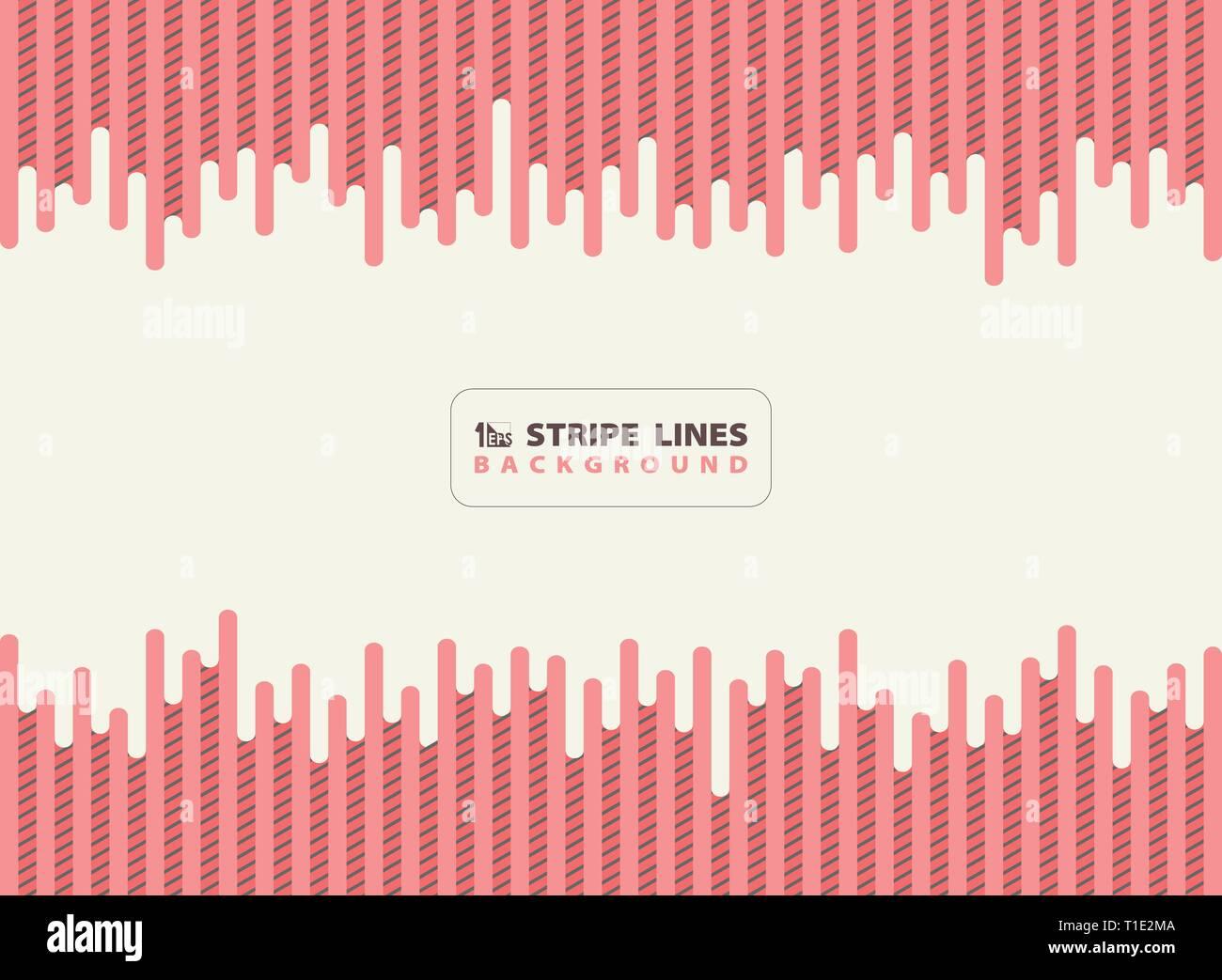 Résumé rose corail vivant dash avec une bande noire motif de lignes de fond au design moderne. Vous pouvez utiliser pour votre annonce, affiche, print, modèle, brochure, flyer, Photo Stock