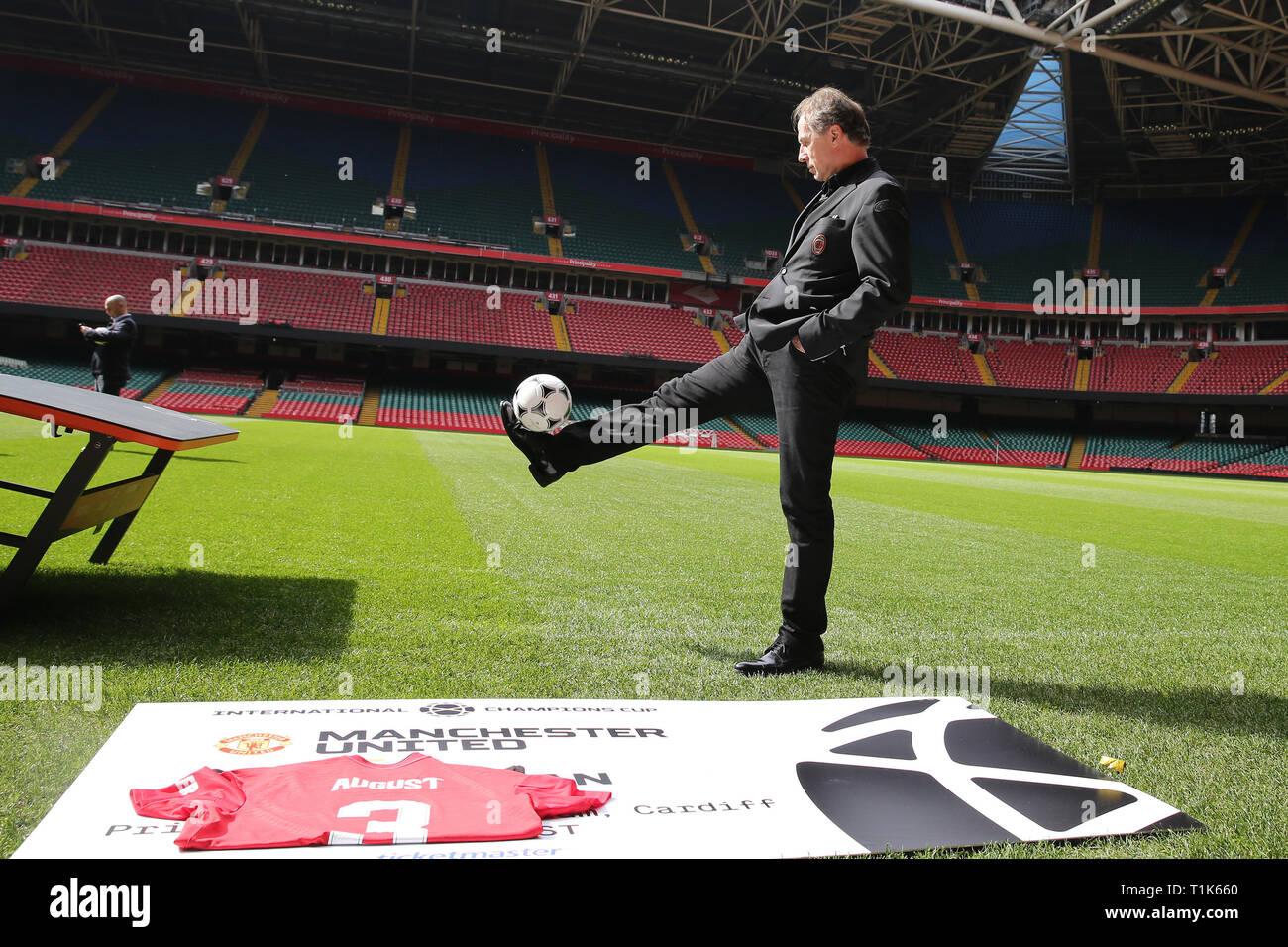 Milan Ac Calendrier.Cardiff Royaume Uni Mar 27 2019 Franco Baresi Ac Milan