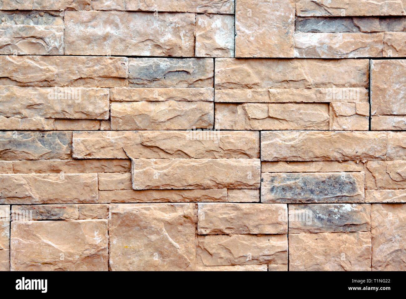 Mur En Pierre Naturelle image de fond de mur fait de carreaux en pierre naturelle