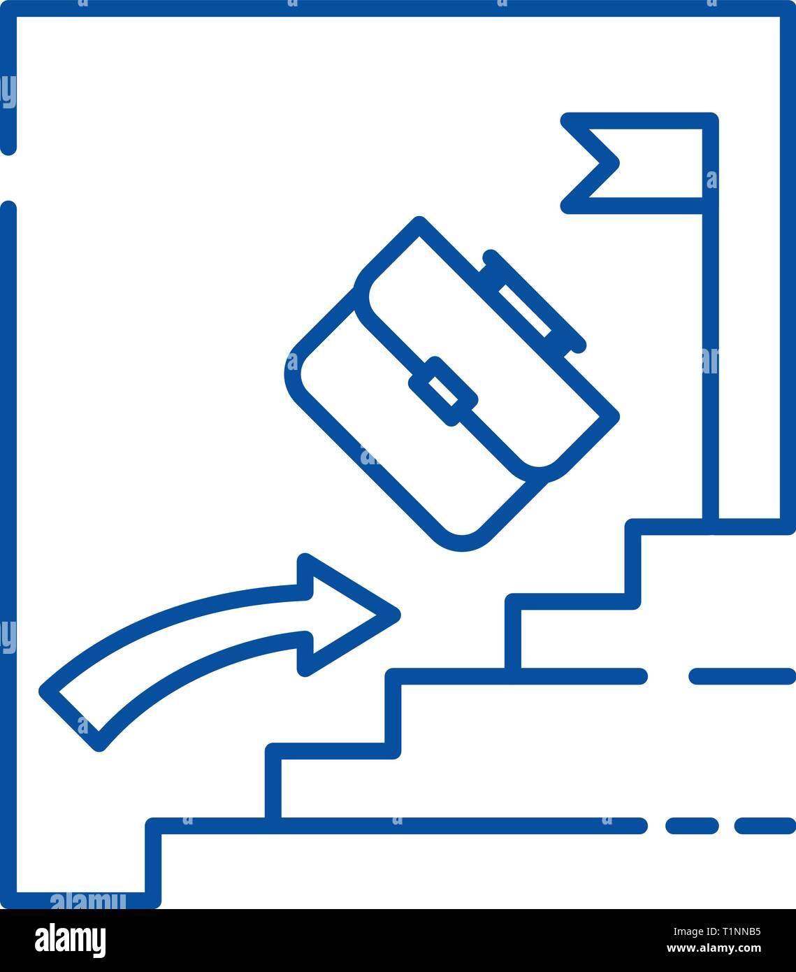 L'icône de la ligne investissement passif concept. Investissement passif télévision vector symbole, signe, contours illustration. Photo Stock