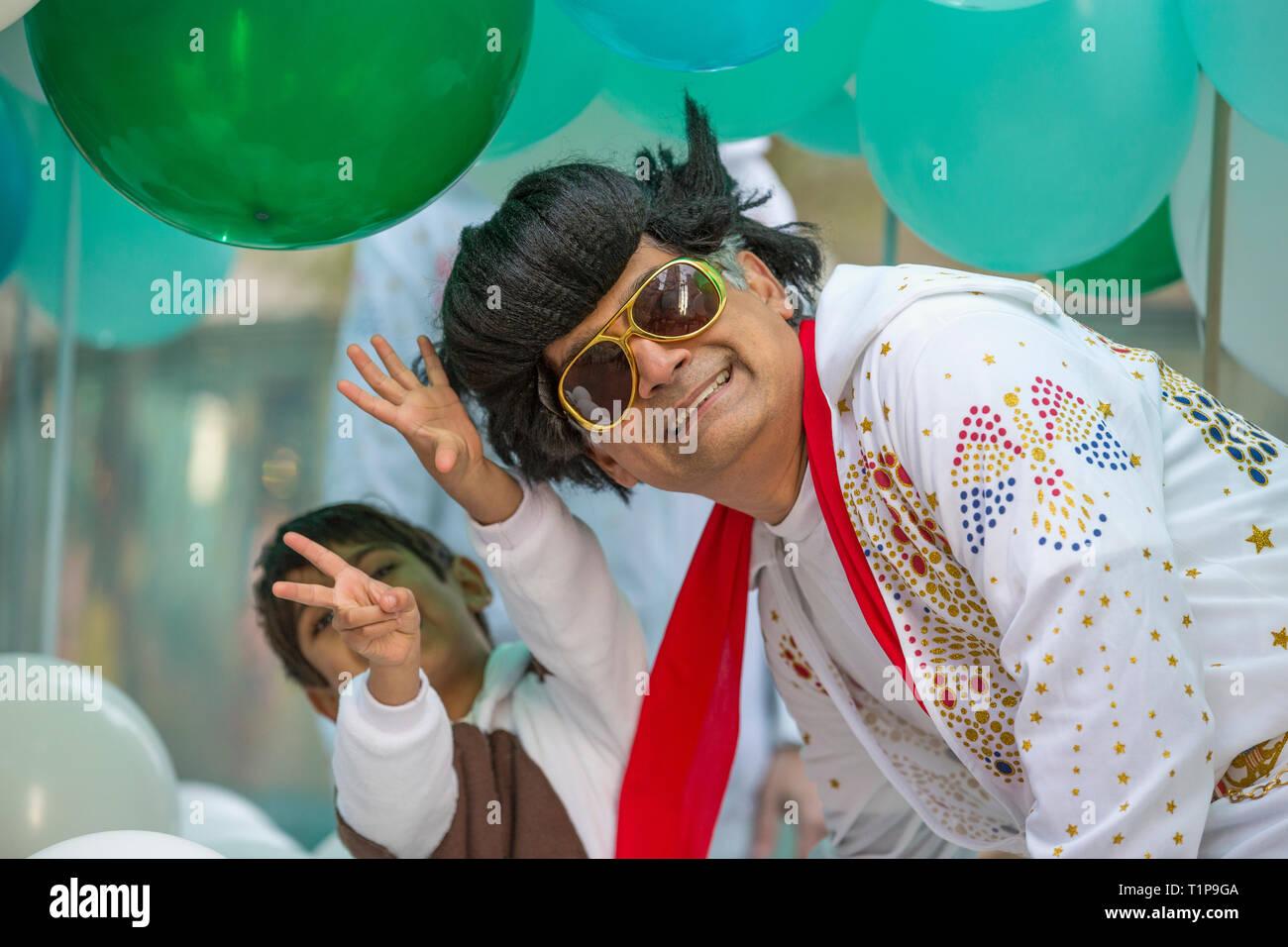 Les rappeurs mardi gras Perruque Rock /'n/' Roll Perruque Elvis Hommes Perruque Noirs