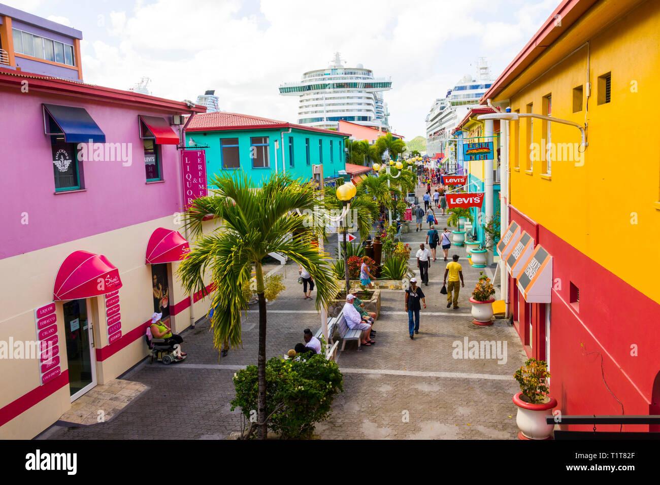 St. John's Antigua est la capitale et la plus grande ville d'Antigua-et-Barbuda, situé dans les Antilles dans la mer des Caraïbes et avec une population de 22 Banque D'Images