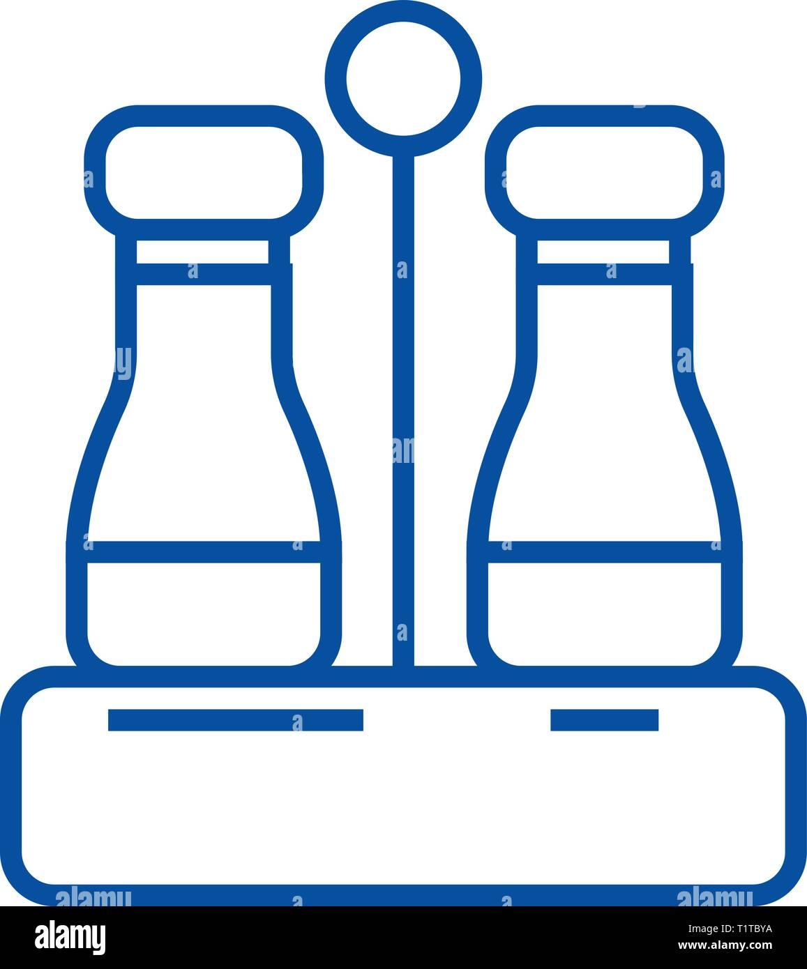 Assaisonner de sel et poivre,icône ligne concept. Assaisonner de sel et poivre,télévision, signe, symbole vecteur illustration contour. Illustration de Vecteur