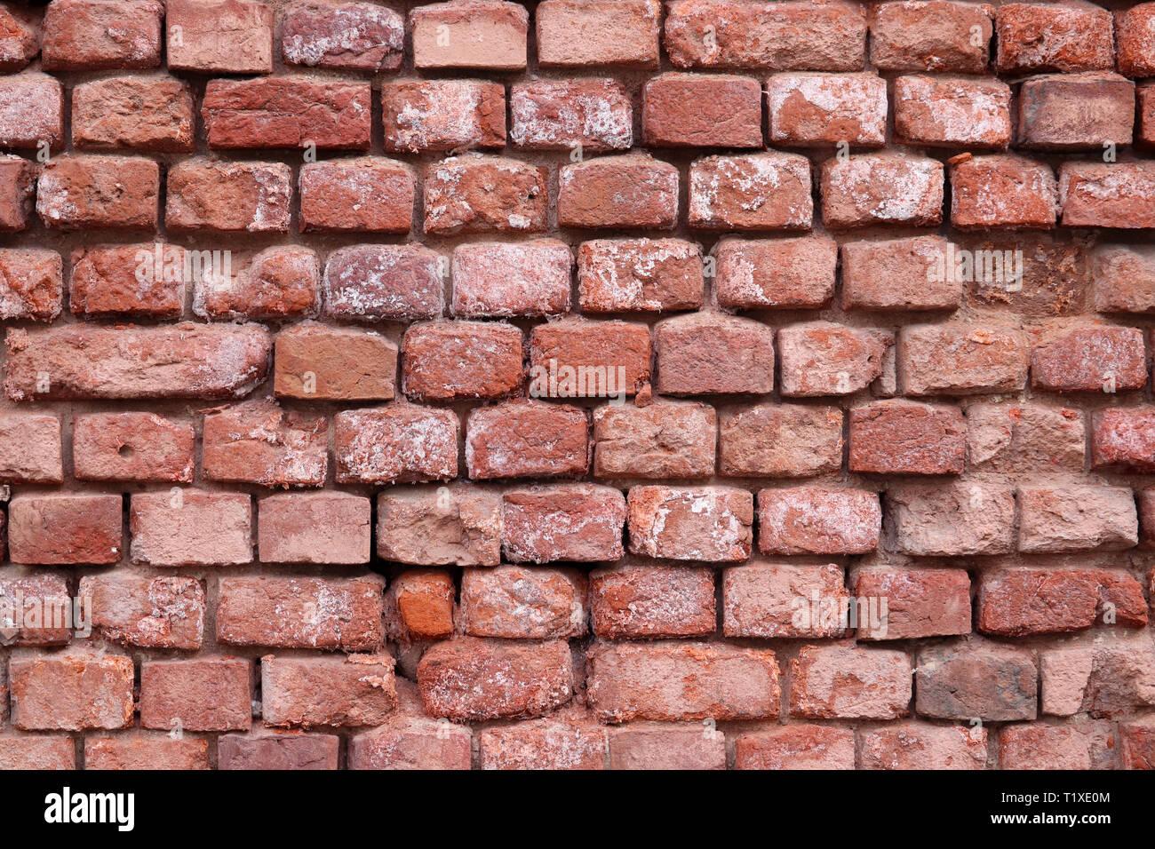 Mur En Brique Rouge la texture du mur de brique rouge. ancienne façade de