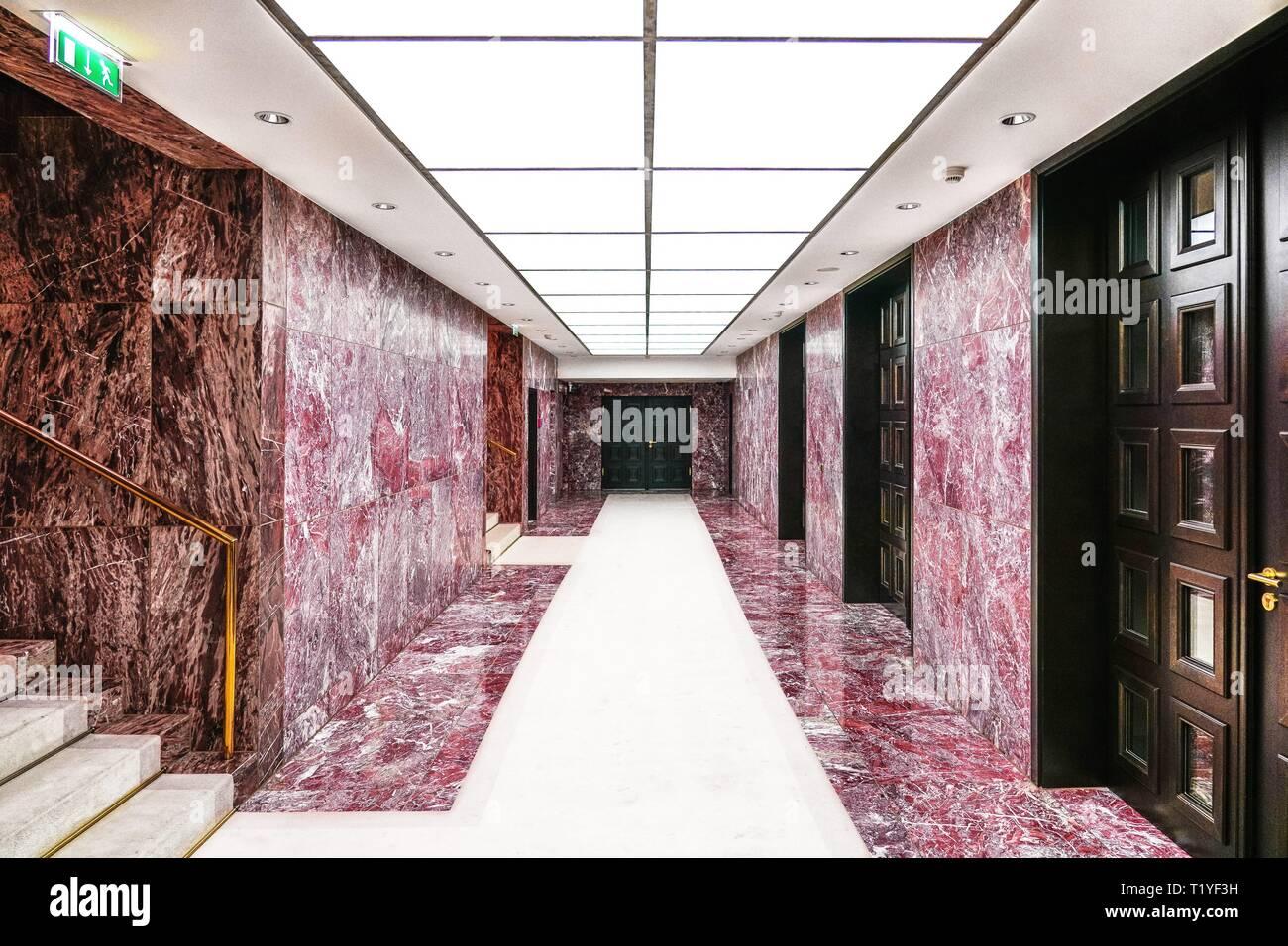 Puit De Lumiere Sol berlin, deutschland. 08th mar, 2019. 06.03.2019, un couloir