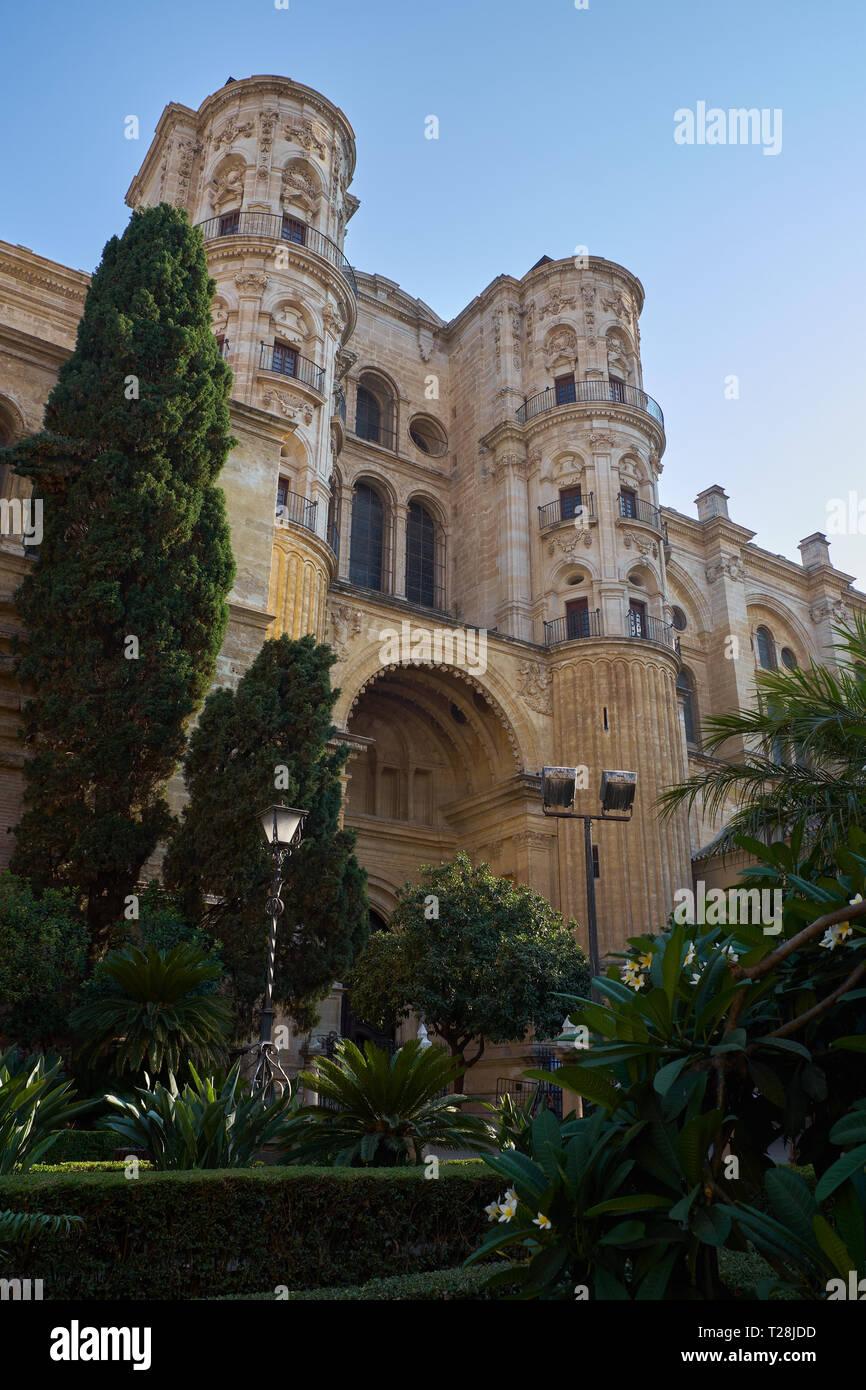 Cathédrale de Málaga. (Catedral de la Encarnación). L'Andalousie, espagne. Banque D'Images