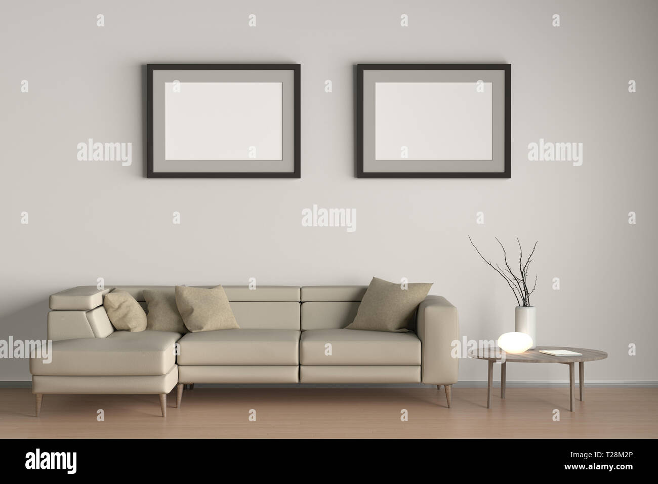 Deux Horizontales À D'un Salon Affiches Blanches L'intérieur Avec jL354ARq