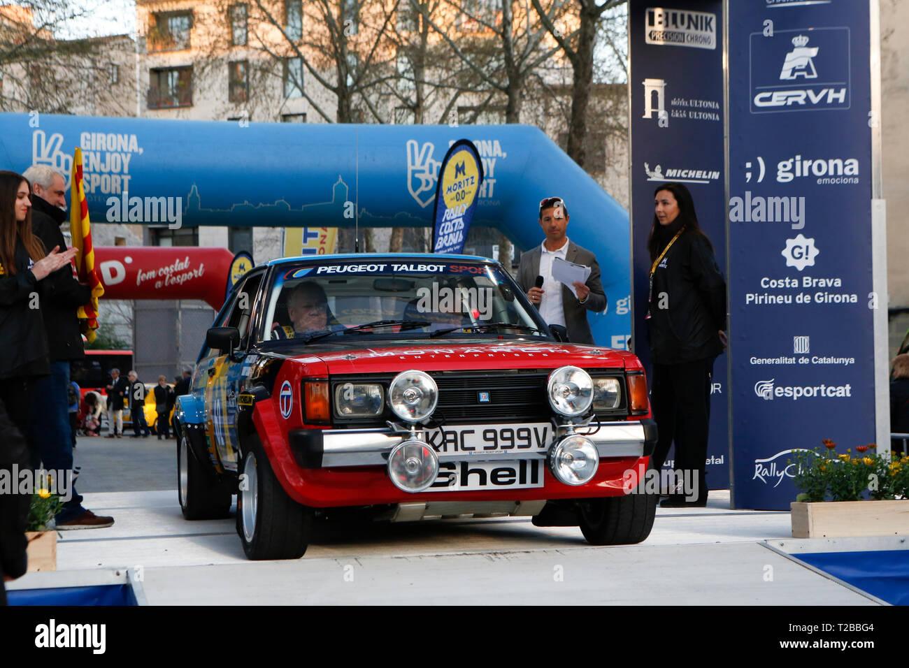 Début de la 67ème édition de Moritz Historic Rally Costa Brava Girona, Espagne le 15.03.2019 Banque D'Images