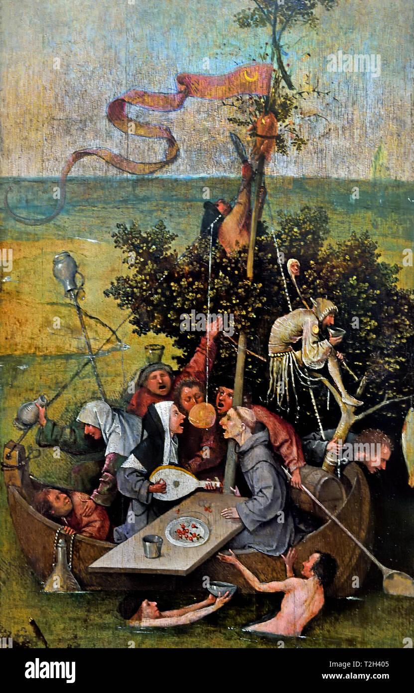 Le Ship of Fools 1505 Naissance de Jérôme Bosch Jheronimus van Aken 1450 - 1516 Les Pays-Bas Dutch Photo Stock
