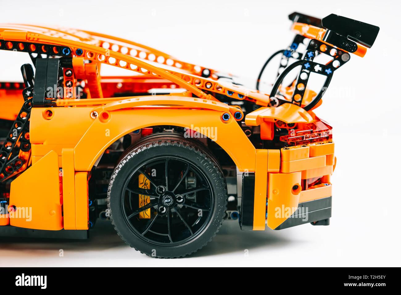 911 Avril2019Porsche Modèle Gt3 Rs Lego BucarestRoumanie 02 Fc1JTlK