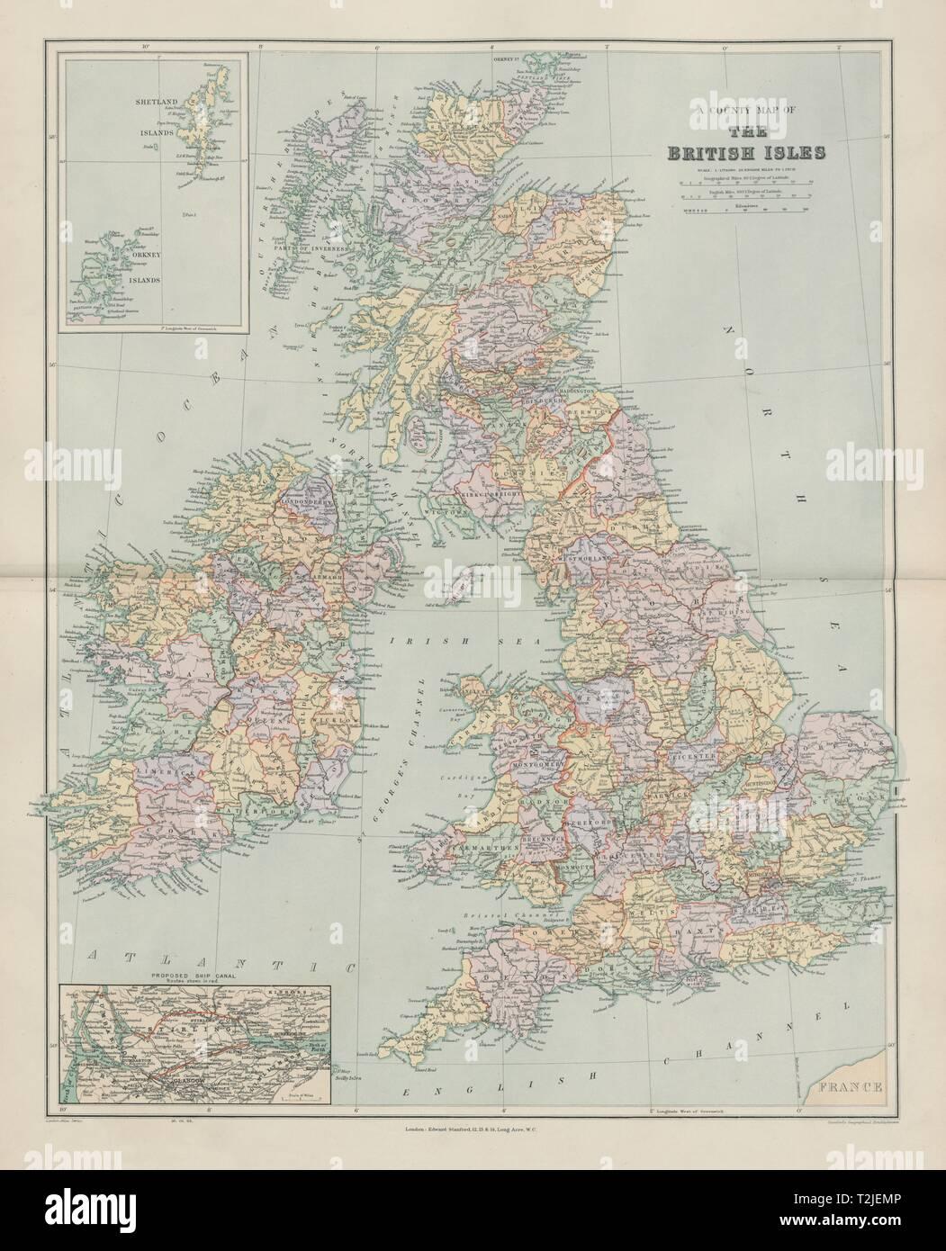 Carte Angleterre Ecosse.County Carte Des Iles Britanniques Angleterre Ecosse Irlande Pays