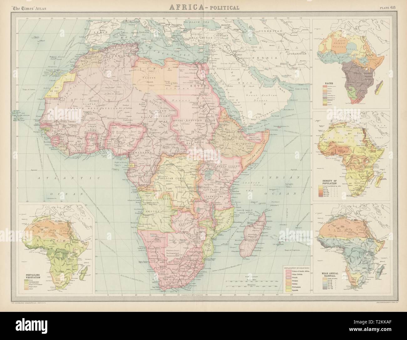 Carte Afrique Anglais.L Afrique Coloniale L Origine Ethnique Francais Portugais