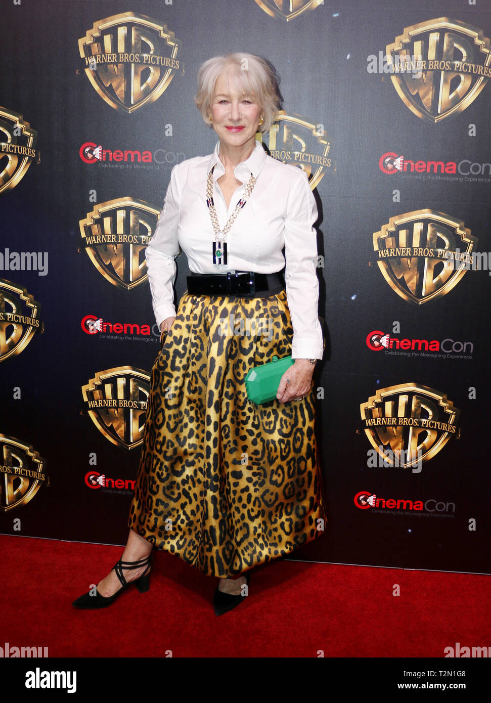 Las Vegas, USA. Apr 02, 2019. Helen Mirren au CinemaCon 2019 - Warner Bros Pictures 'The Big Picture' Présentation tenue au Caesars Palace à Las Vegas, USA le 2 avril 2019. Photo : Alamy/Hyperstar Live News Photo Stock